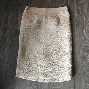 BANANA REPUBLIC Cream Color Skirt